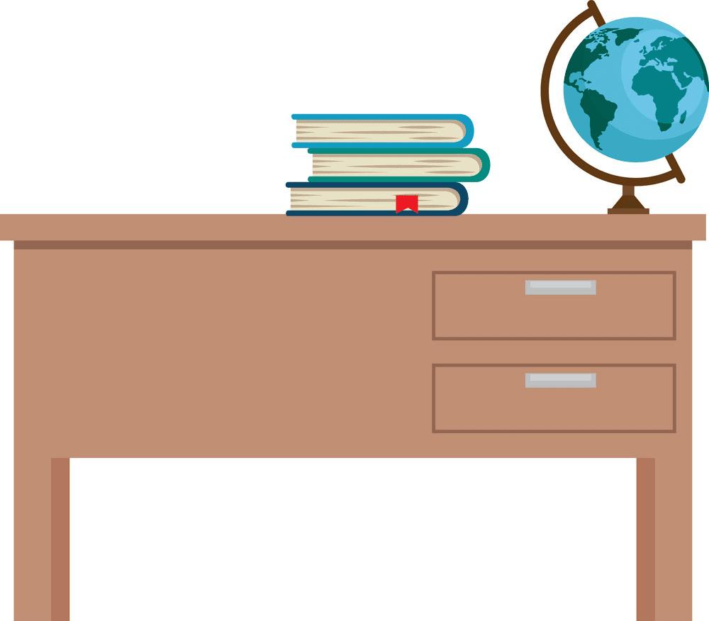Teacher Desk clipart png free