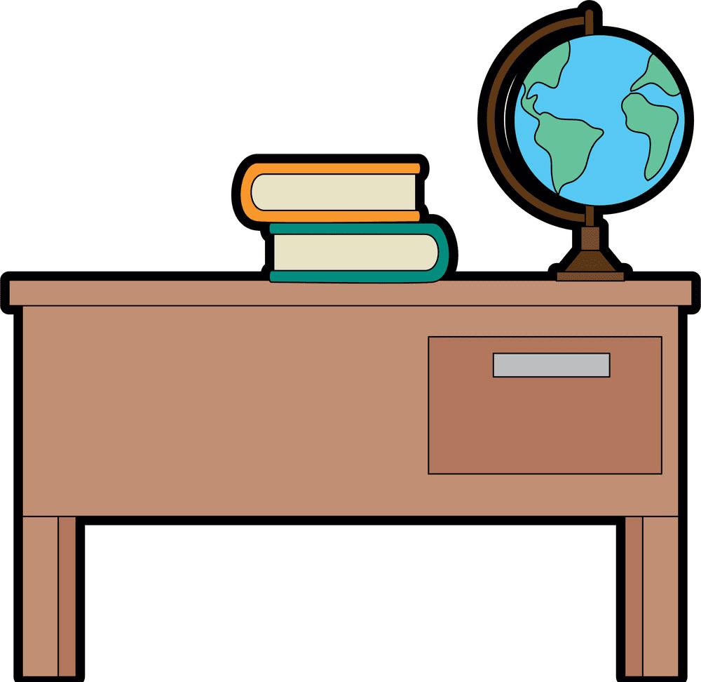 Teacher Desk clipart png