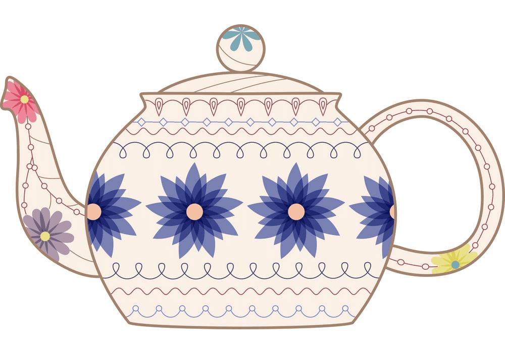 Teapot clipart free 4