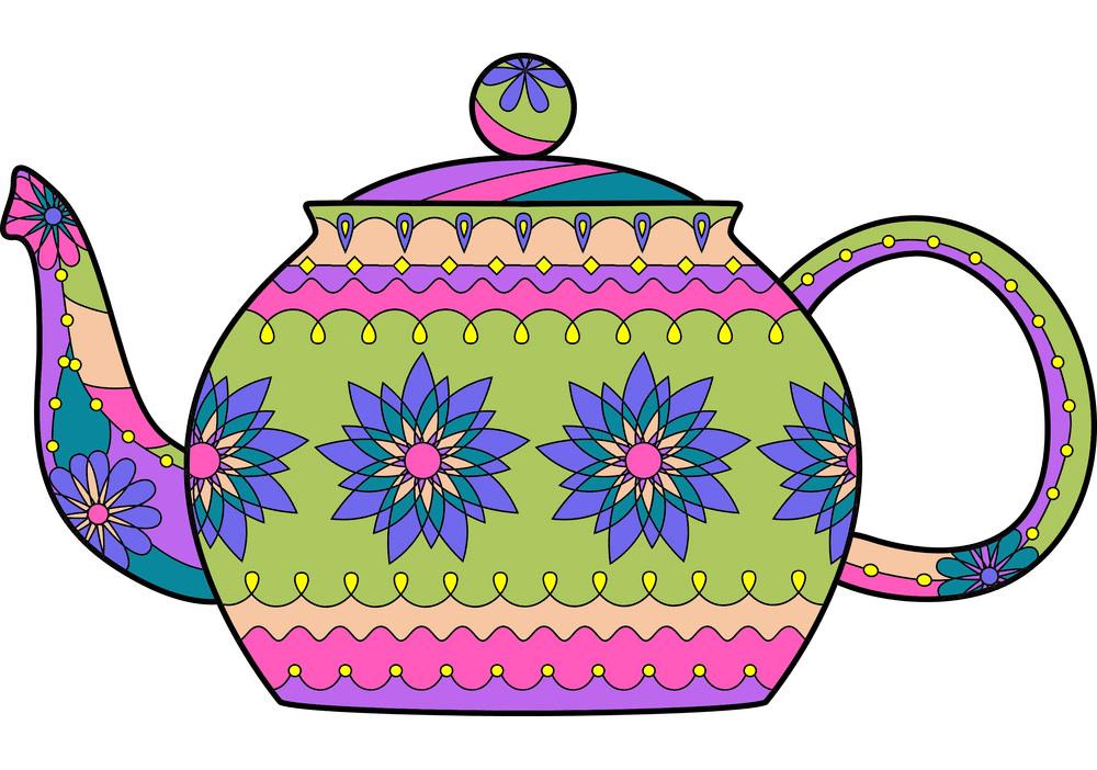 Teapot clipart free 7