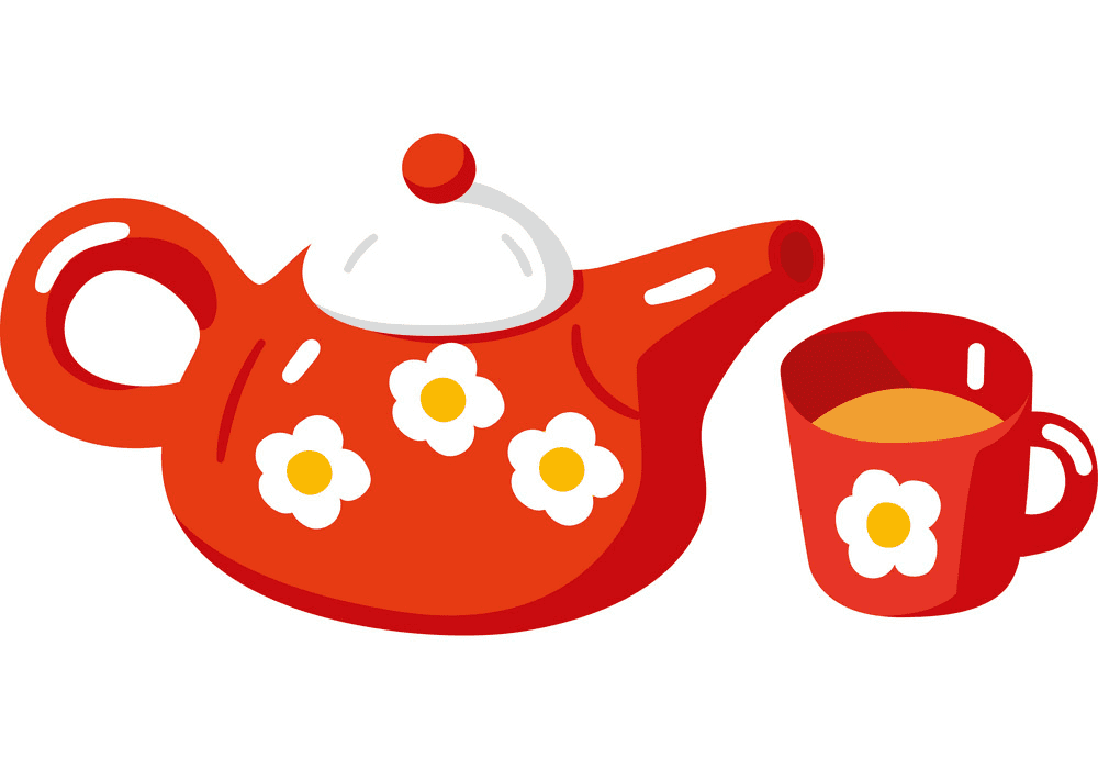 Teapot clipart free