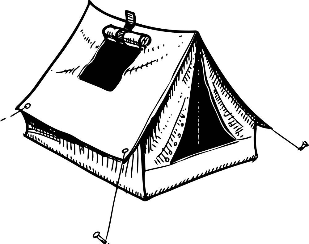 Tent Clipart Black and White free images