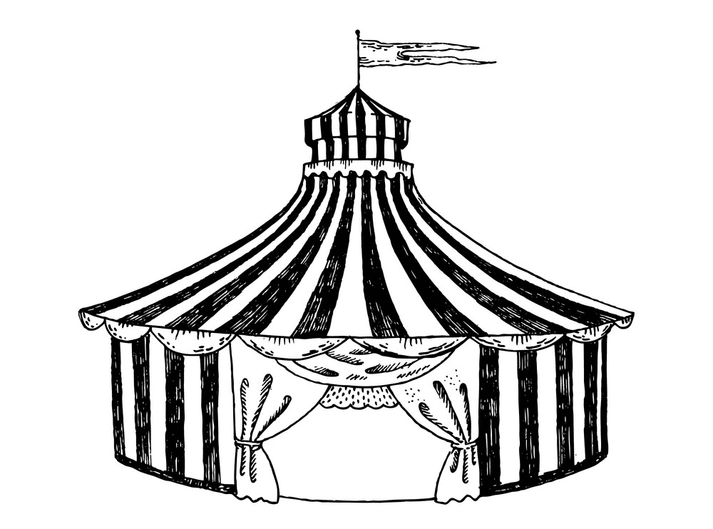 Tent Clipart Black and White png free