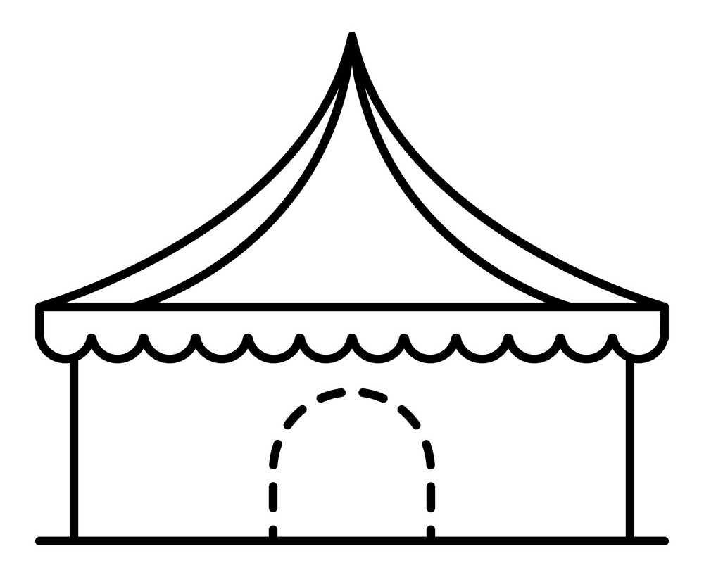 Tent Clipart Black and White png images