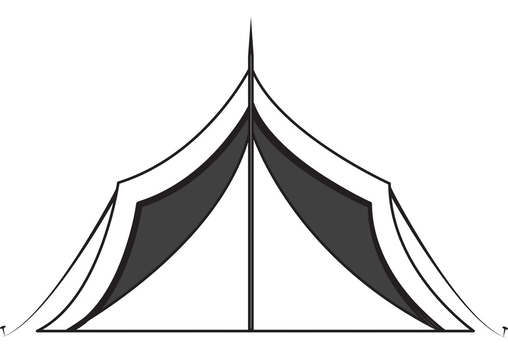 Tent Clipart Black and White png
