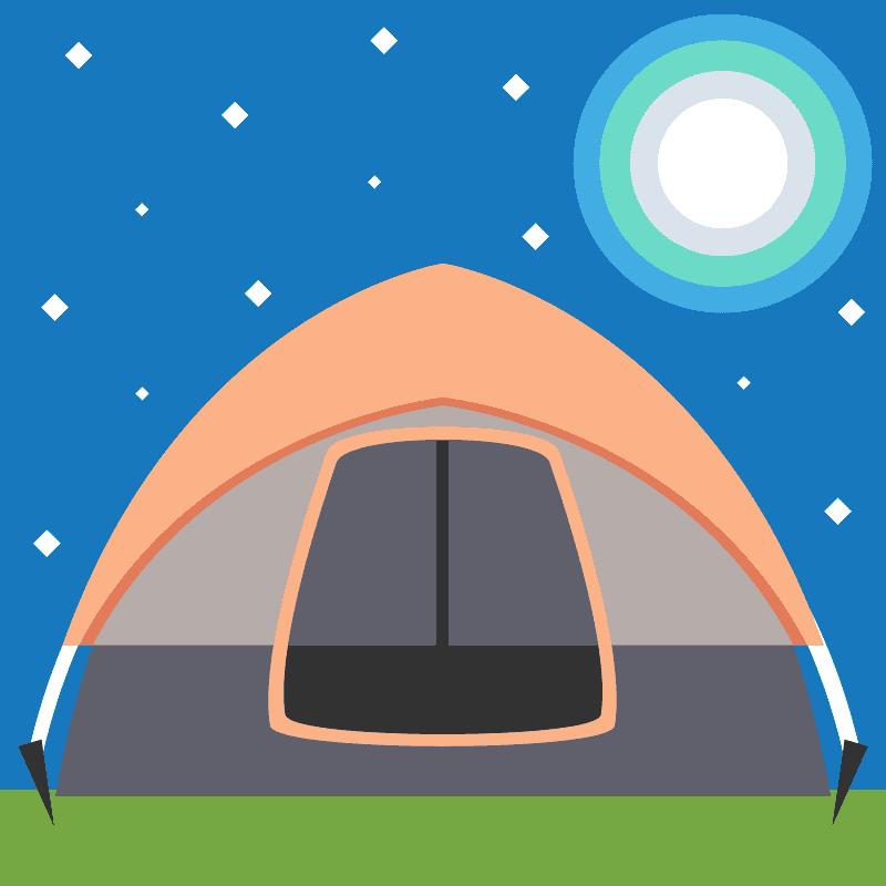 Tent clipart transparent background 3