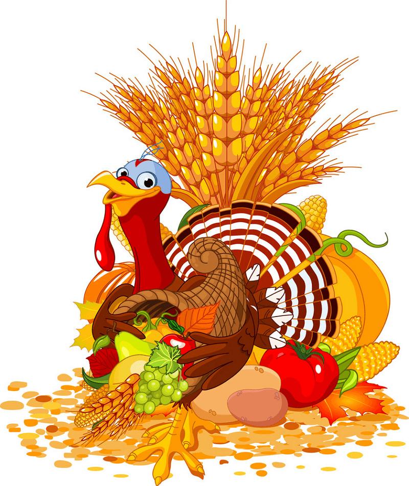 Thanksgiving Cornucopia clipart free images