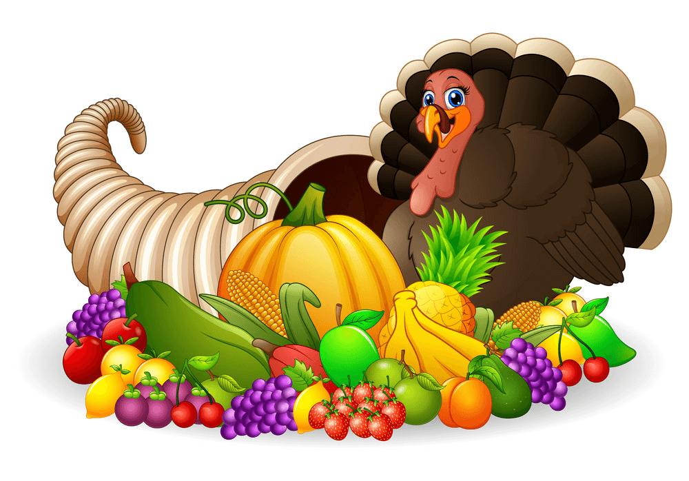 Thanksgiving Cornucopia clipart free