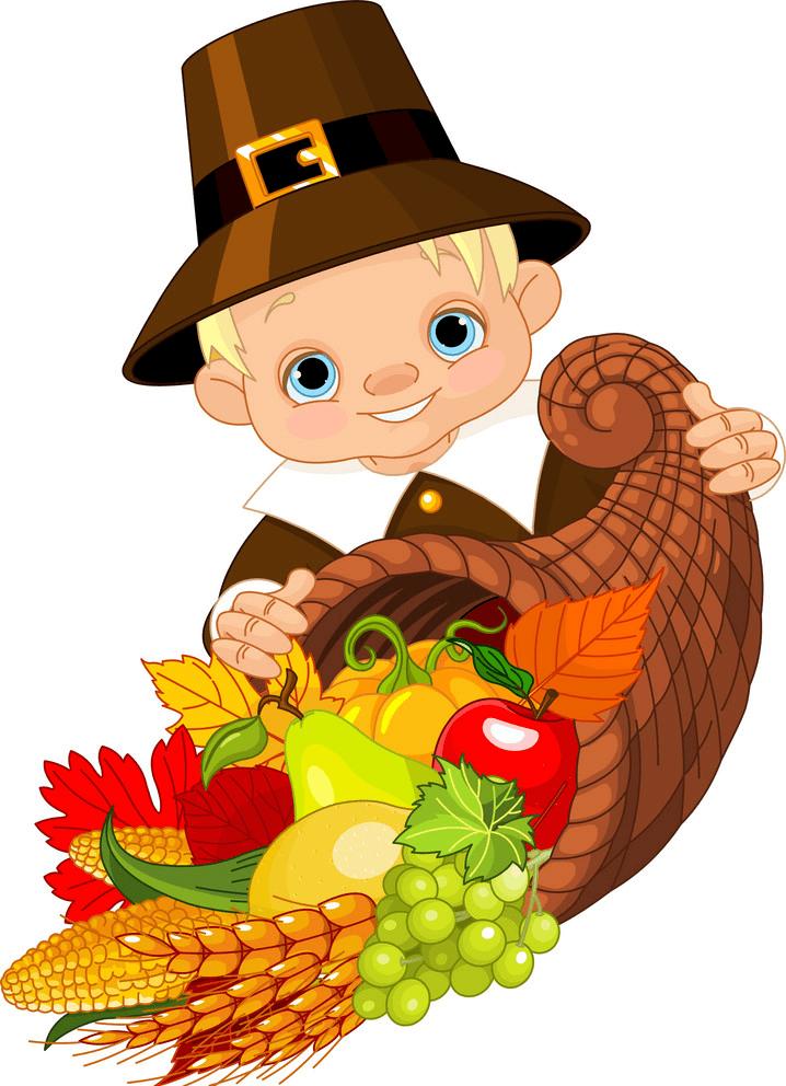 Thanksgiving Cornucopia clipart image