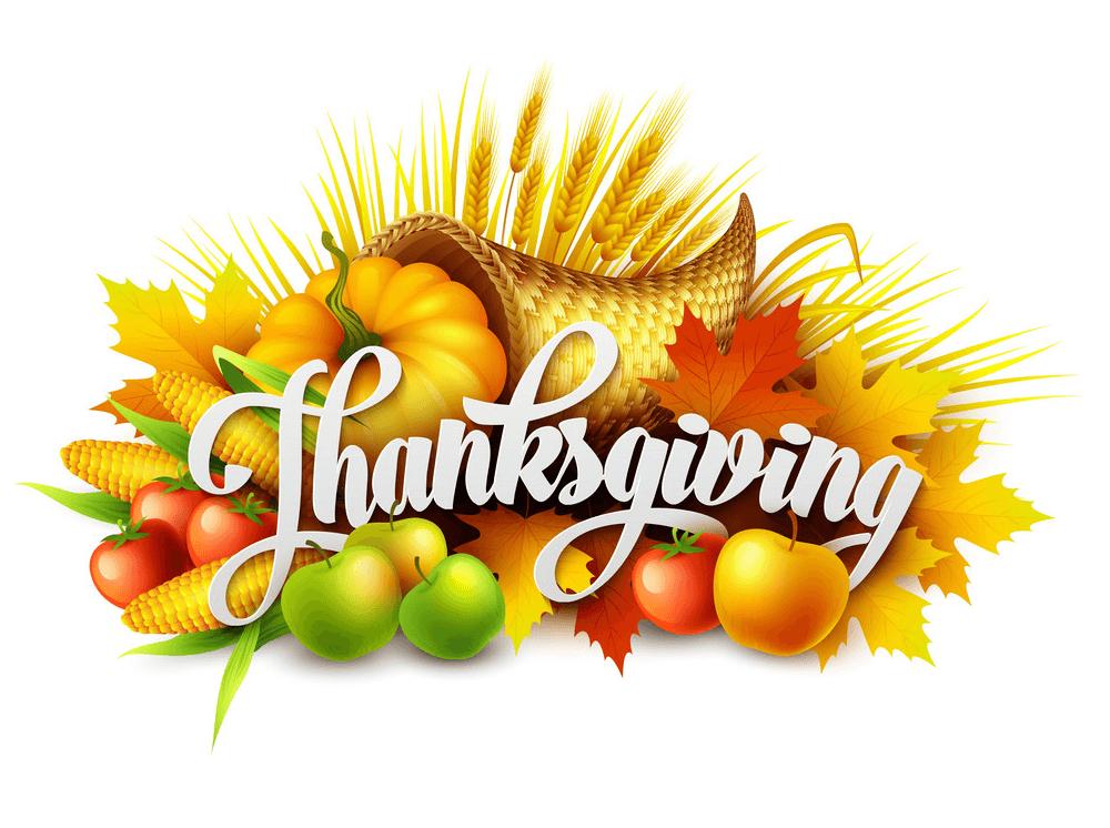 Thanksgiving Cornucopia clipart images