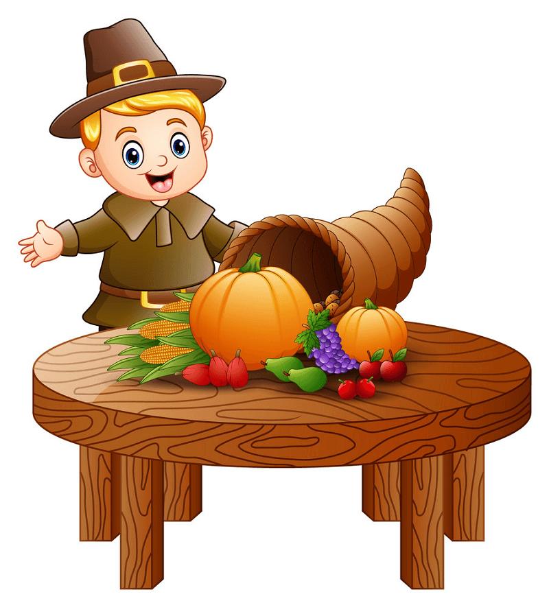 Thanksgiving Cornucopia clipart png images