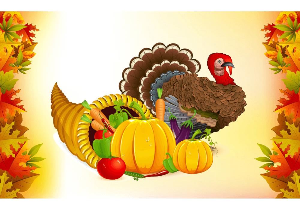 Thanksgiving Cornucopia clipart png