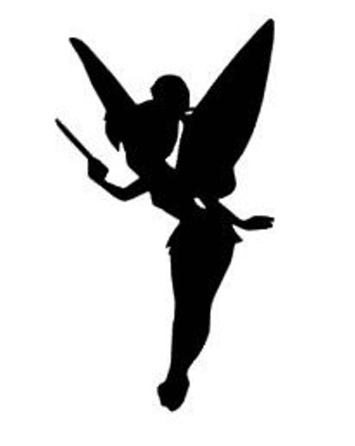 Tinkerbell Silhouette clipart free