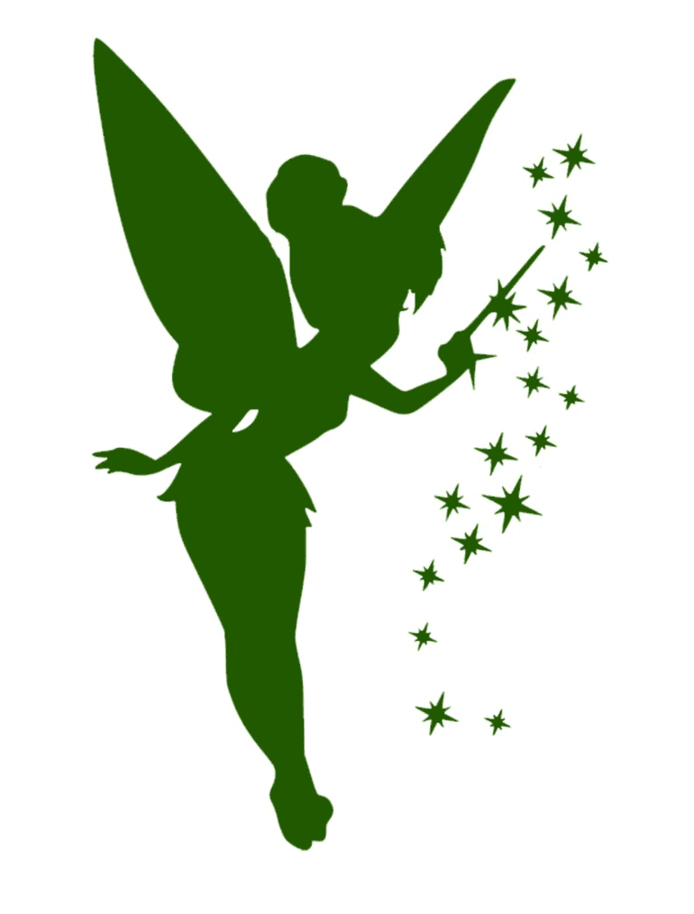 Tinkerbell Silhouette clipart image