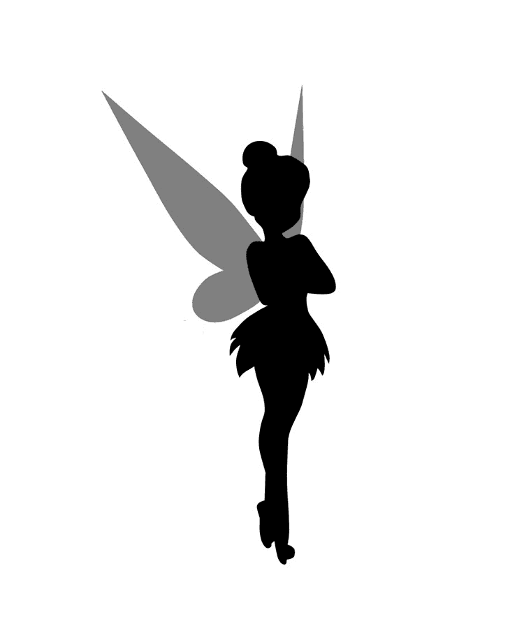 Tinkerbell Silhouette clipart images