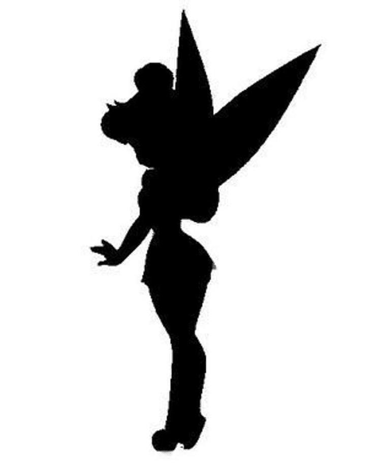 Tinkerbell Silhouette clipart png image