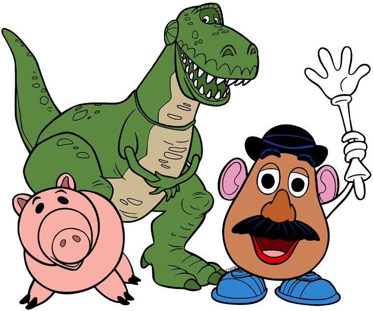 Toy Story Characters clipart transparent