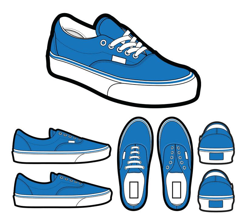 Vans Shoes clipart