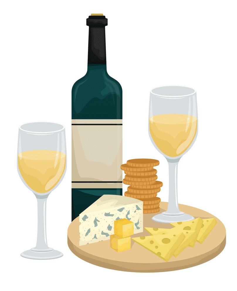 Wine and Cheese clipart 2