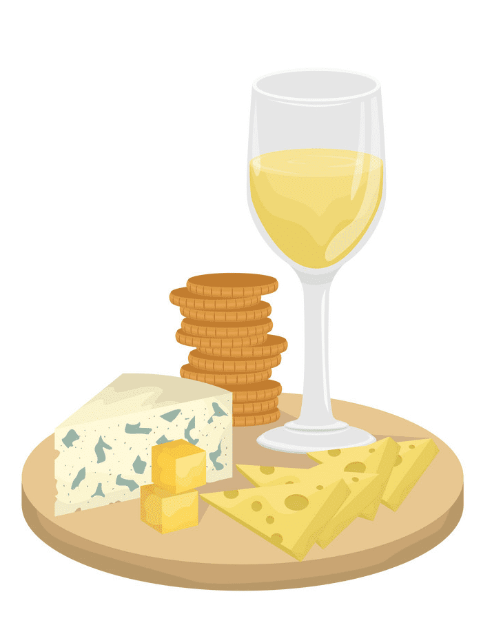 Wine and Cheese clipart 3
