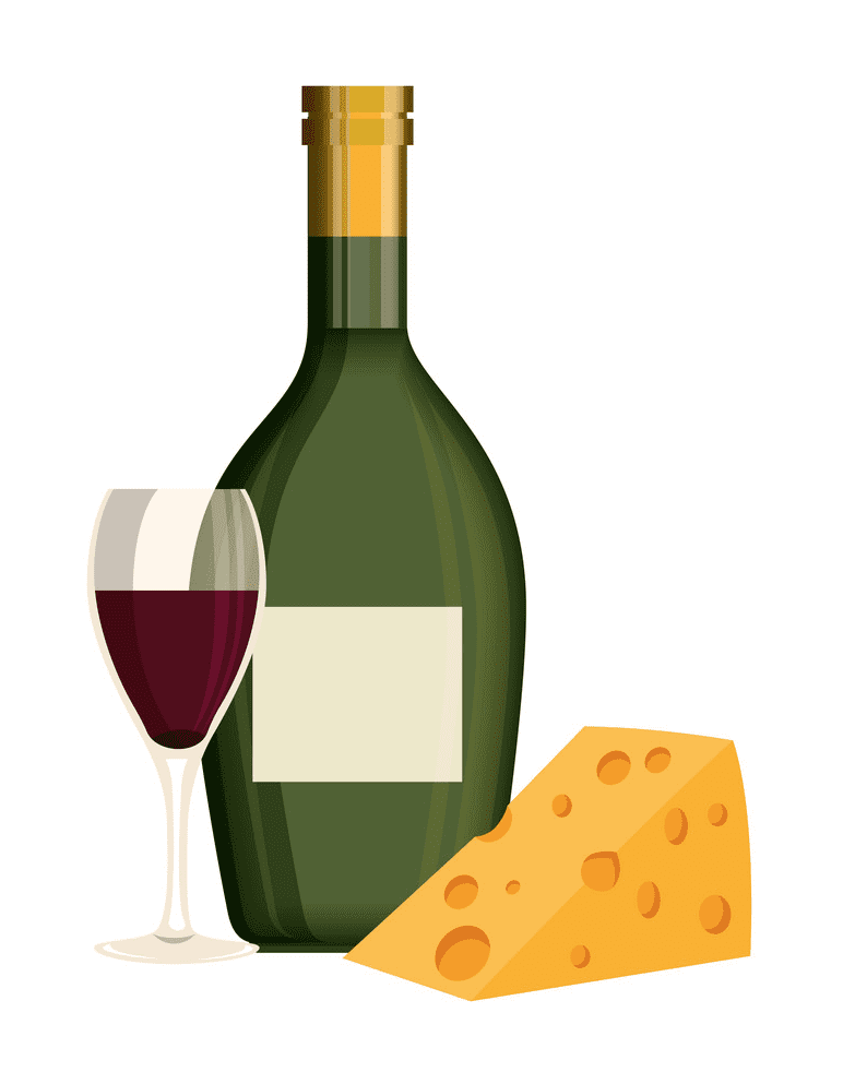 Wine and Cheese clipart 4