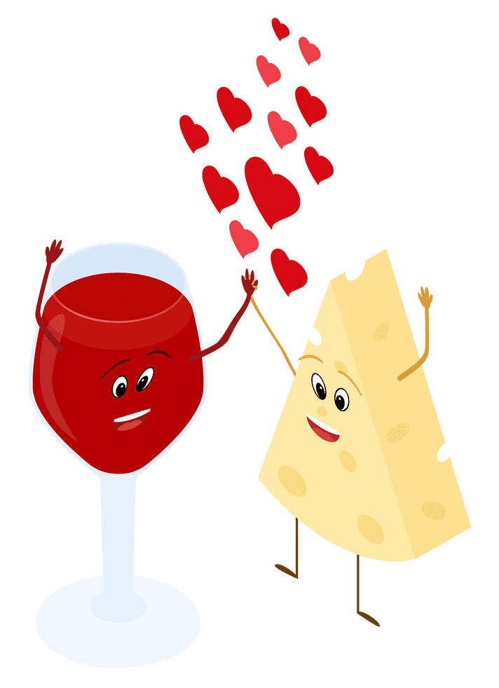 Wine and Cheese clipart 6