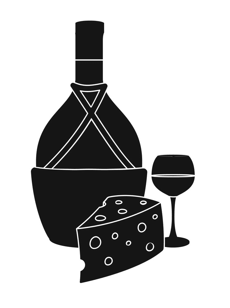 Wine and Cheese clipart 7