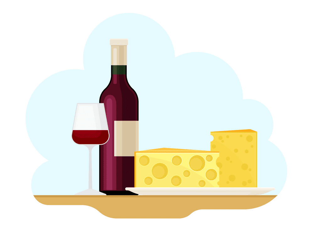 Wine and Cheese clipart 9
