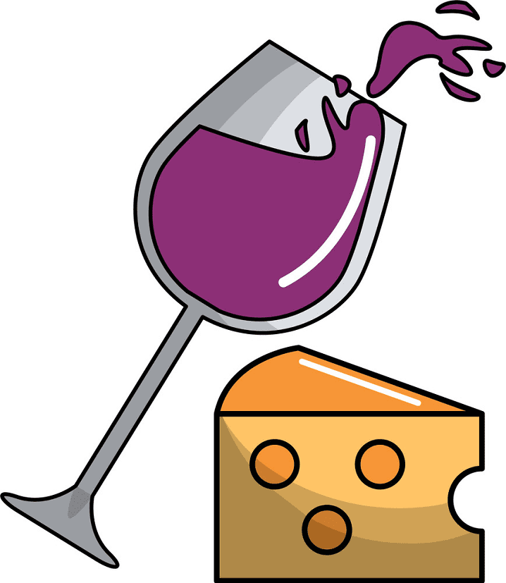 Wine and Cheese clipart download