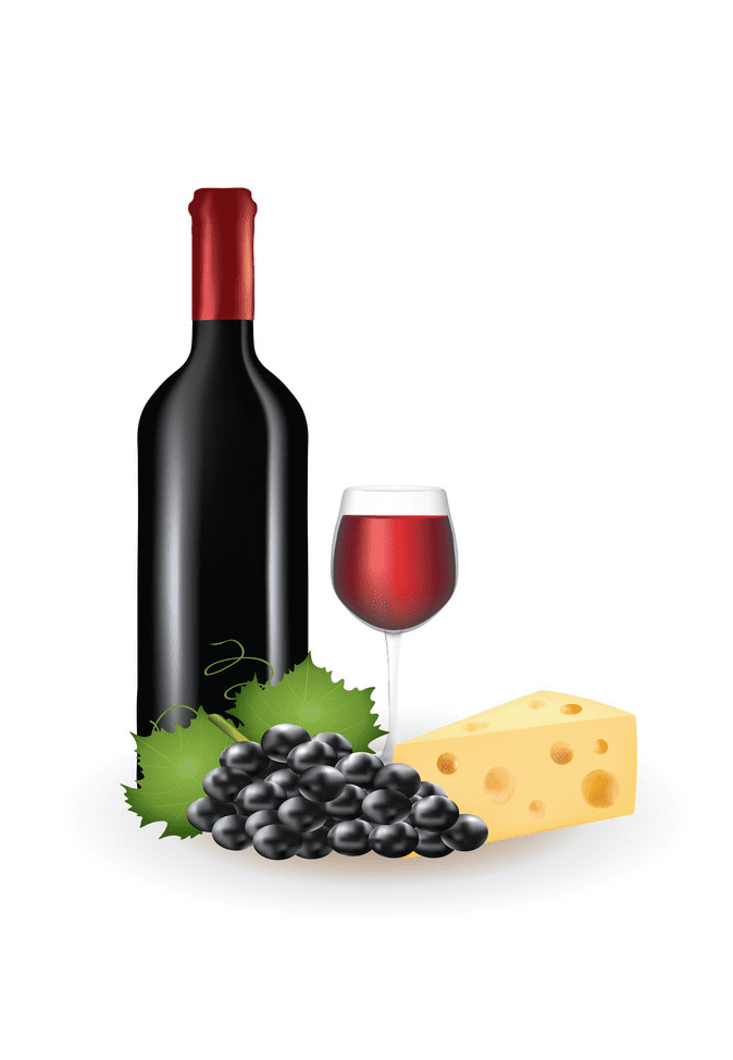 Wine and Cheese clipart for free