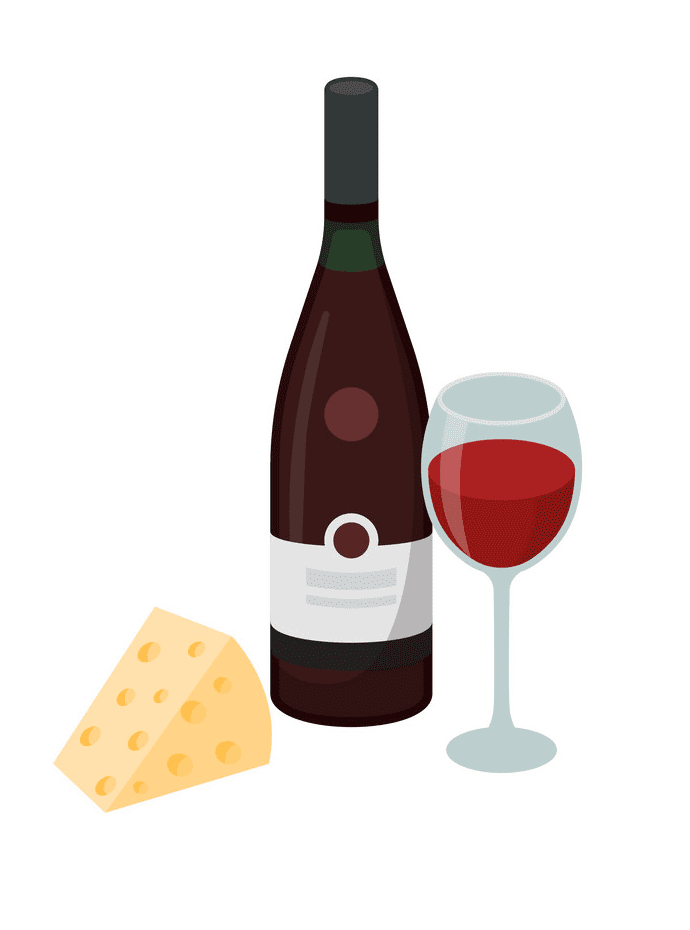 Wine and Cheese clipart free download