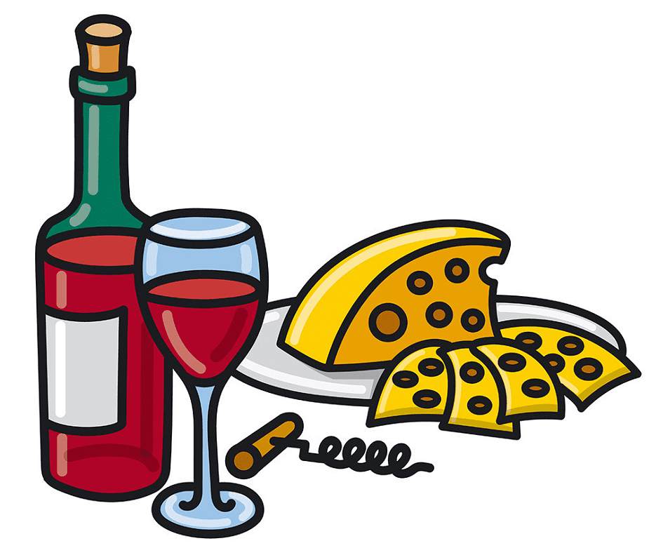 Wine and Cheese clipart free