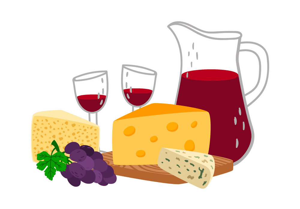 Wine and Cheese clipart image
