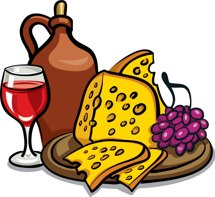 Wine and Cheese clipart images