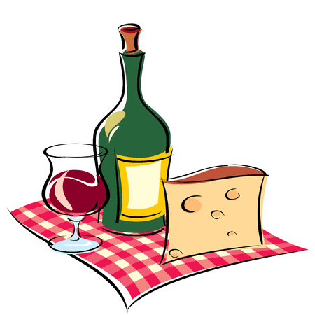 Wine and Cheese clipart picture