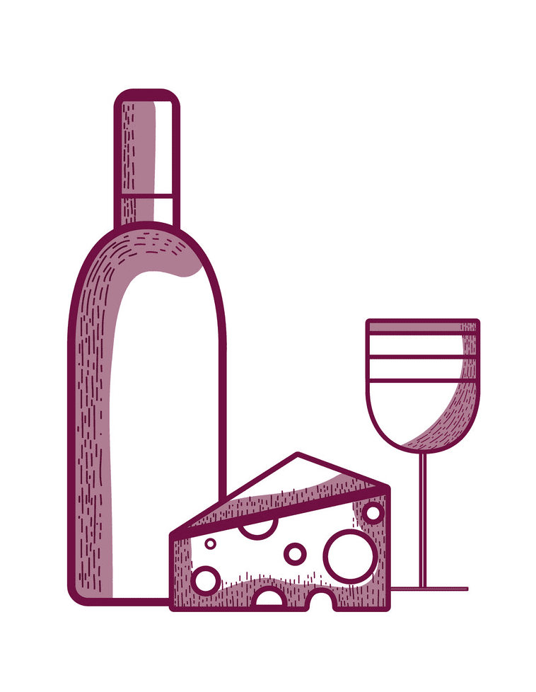Wine and Cheese clipart png free