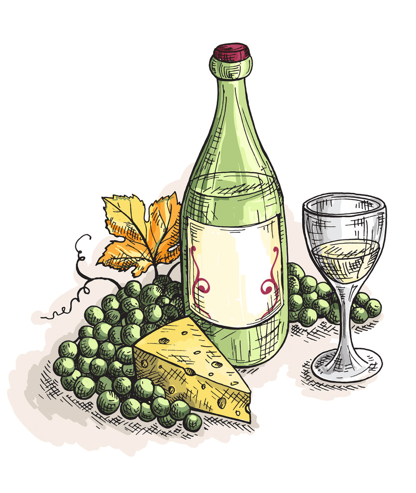 Wine and Cheese clipart png image