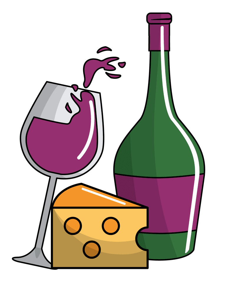 Wine and Cheese clipart png images