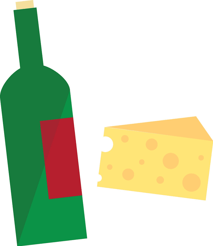 Wine and Cheese clipart png