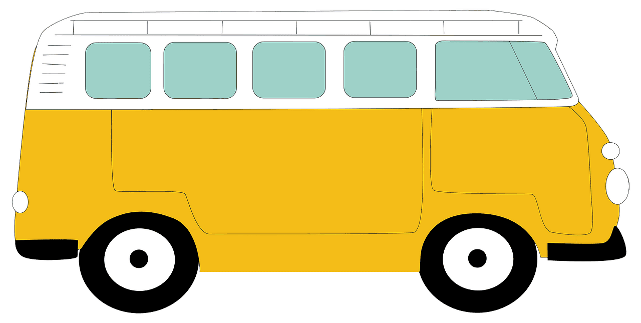 Yellow Camper clipart transparent
