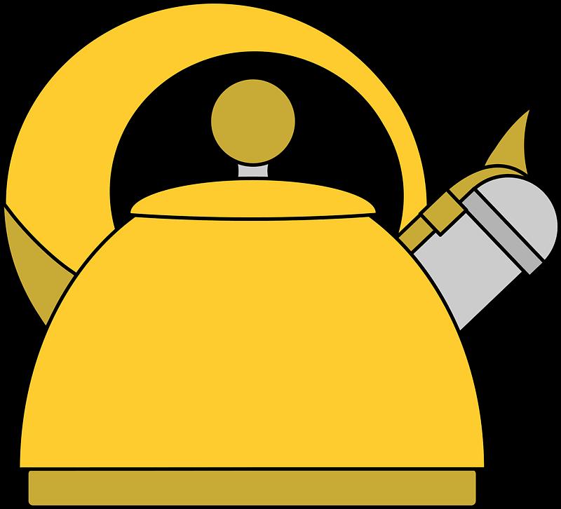 Yellow Teapot clipart transparent