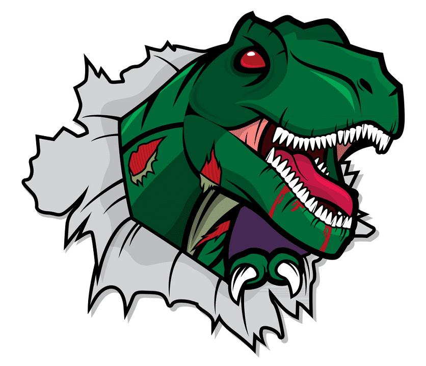 Zombie T-Rex clipart