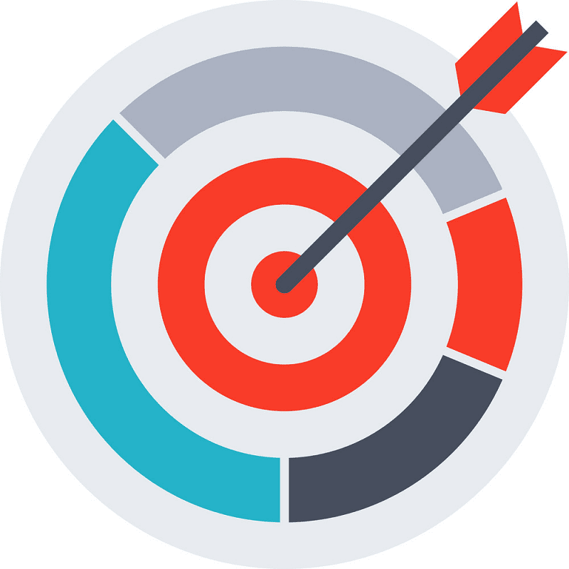 Archery Target clipart for free