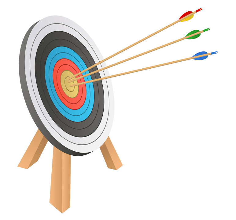 Archery Target clipart for kid