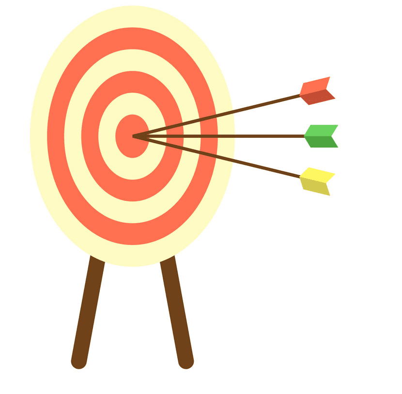 Archery Target clipart free for kid