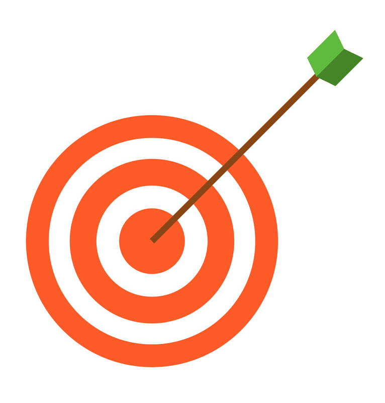 Archery Target clipart free for kids