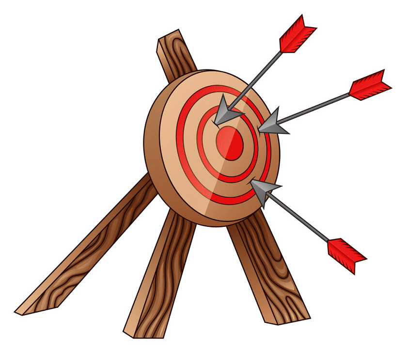 Archery Target clipart free images