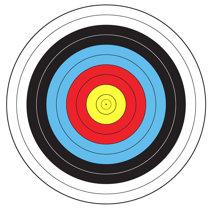 Archery Target clipart free