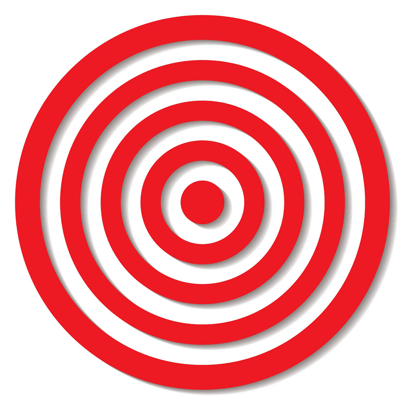 Archery Target clipart image