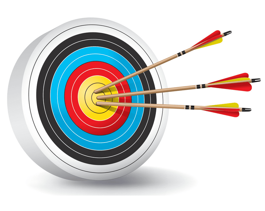 Archery Target clipart png free